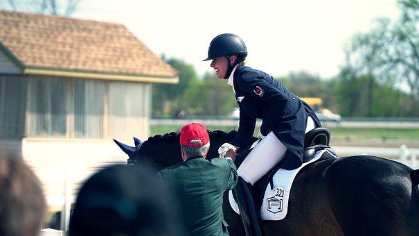People, Man, Girl, Woman, Riding, Horse, Animal, Smile