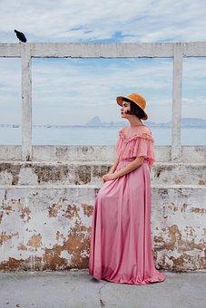People, Woman, Fashion, Pink, Hat, Dress, Clothing