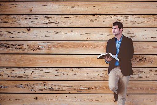 People, Man, Alone, Reading, Book, Bible