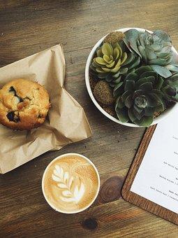 Menu, Boar, Wooden, Table, Coffee, Latte, Hot, Drink