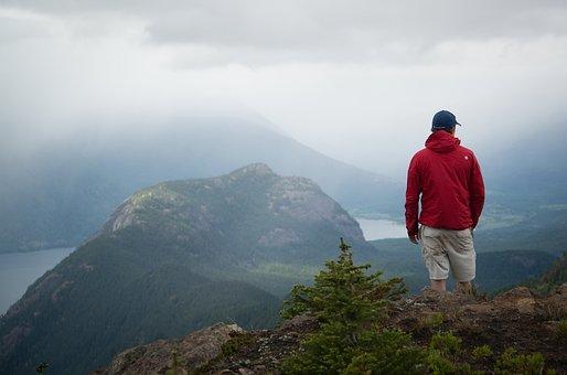 People, Man, Alone, Climbing, Mountain, Ridge, Travel
