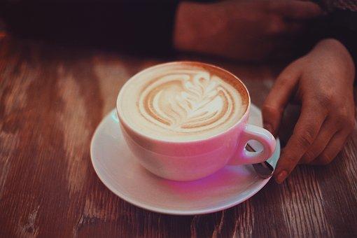 Coffee, Caffe, Late, Art, Coffeehouse, Cup, Saucer
