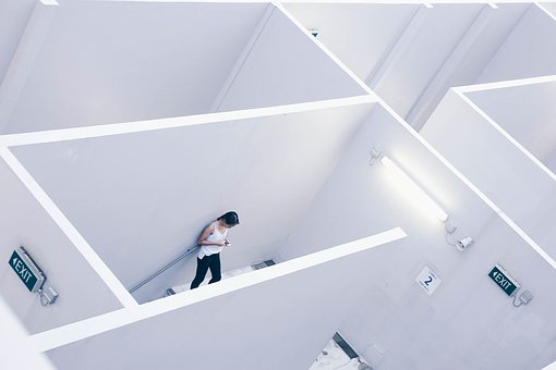 Architecture, White, Cubicle, Wall, Interior, Light