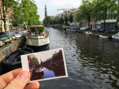 Canal, Water, Park, Trees, Plant, Nature, City, Boat