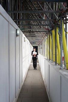 People, Man, Guy, Walking, Alone, Hallway, Building