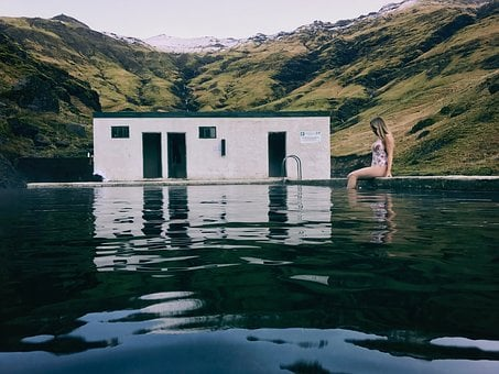 Mountain, Highland, Swimming, Pool, Hot, Spring