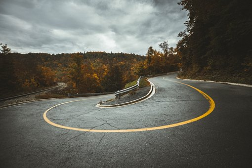 Road, Curve, Travel, Trees, Plant, Nature, Highland