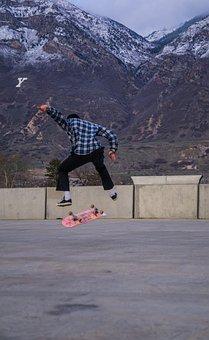 People, Man, Skateboarding, Sport, Game, Wall, Building