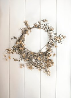 Wreath, Flowers, Ring, Circle, White