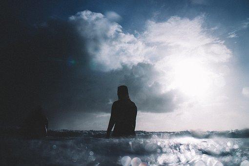 Sea, Ocean, Water, Waves, Nature, Bokeh, Blur, Sky
