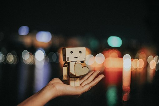 Hand, Palm, Box, Cardboard, Danbo, Character, Sad, Dark