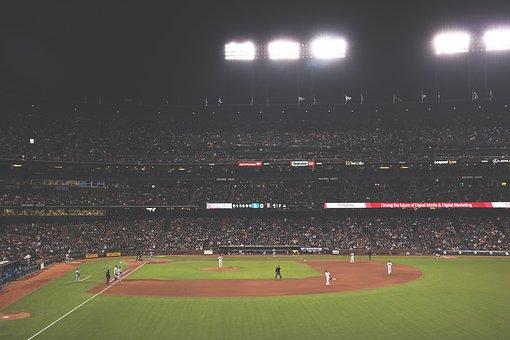 People, Crowd, Audience, Dome, Venue, Baseball