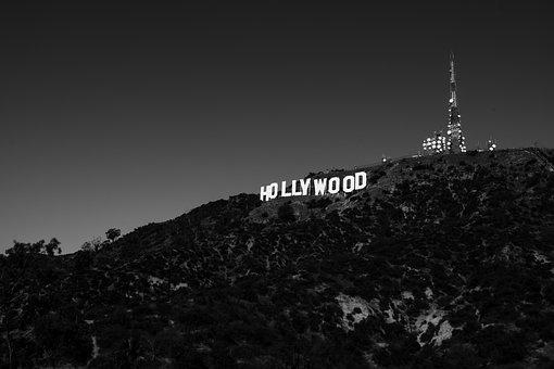 Black And White, Font, Signage, Hollywood, Highland