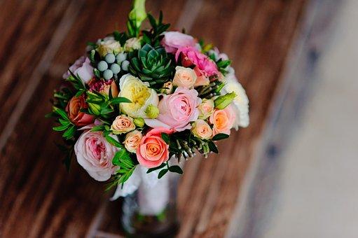 Flower, Bouquet, Petal, Roses, Nature, Vase, Colorful