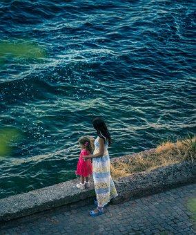 Sea, Ocean, Water, Waves, Nature, Wall, Street, People