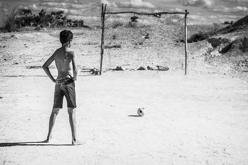 People, Boy, Kid, Playing, Ball, Soccer, Sunny, Field
