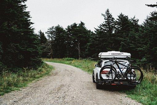 Car, Vehicle, Mountain, Bike, Travel, Path, Green