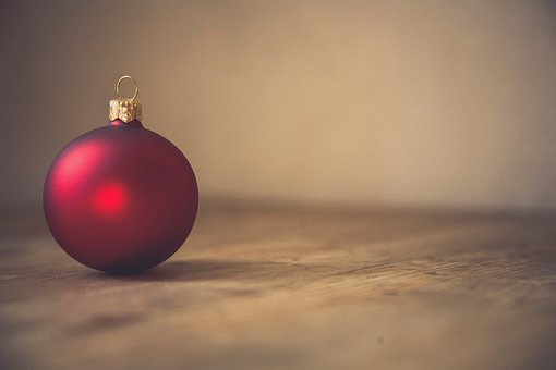 Red, Christmas, Ball, Decoration