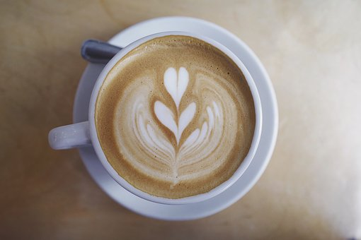 Coffee, Caffe, Latte, Art, Steamed, Milk, Froth, Foam