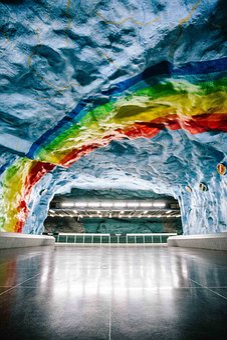 Architecture, Underground, Art, Design, Painting