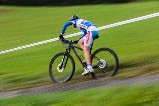Green, Blur, Mountain, Bike, Bicycle, Ride, Race, Sport