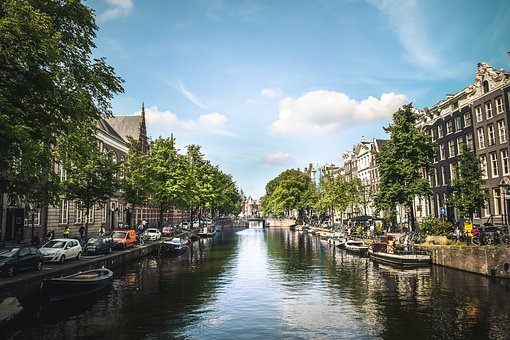Buildings, Structure, Trees, Plant, Nature, Canal