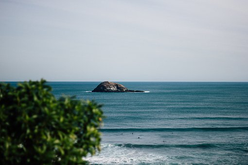 Sea, Ocean, Blue, Water, Waves, Nature, Horizon, Rock