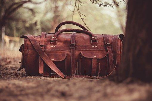 Handbag, Leather, Brown, Blur, Tree