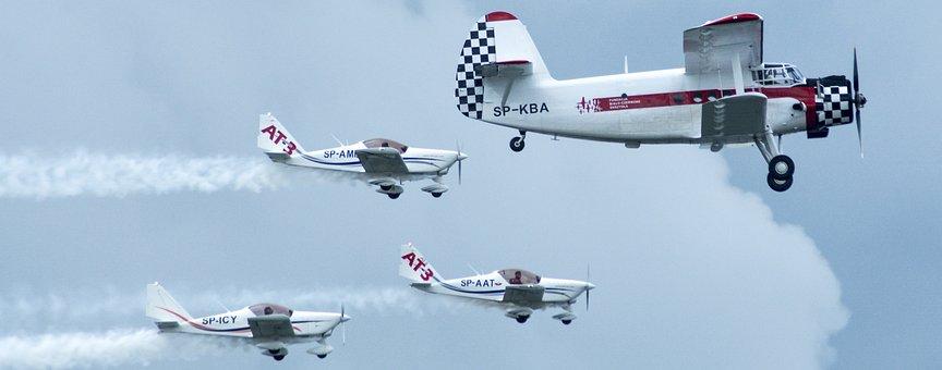 Aircraft, Stunts, Air Show, Flight, Airfare, Aviation