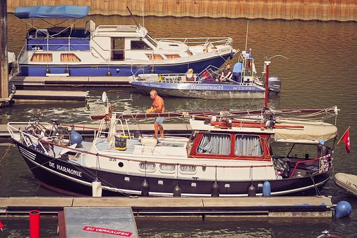 Port, Boats, Anchorage, River, Yachts, Dock, Water
