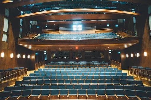 Auditorium, Stadium, Bench, Chairs, Inside, Building