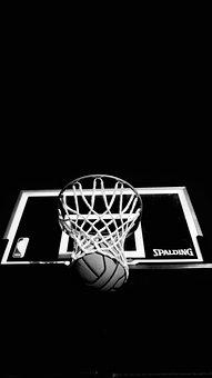 Dark, Ring, Board, Basketball, Ball, Black Basketball