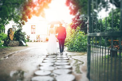 Couple, Man, Woman, Wedding, Love, Dress, Suit, Pathway