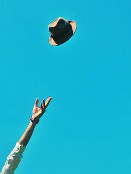 Hand, Bracelet, Arm, Hat, Cap, Blue