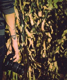 People, Man, Guy, Tattoo, Art, Hand, Arm, Camera, Lens