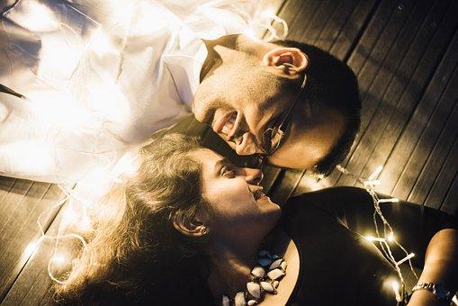 People, Couple, Man, Woman, Love, Smile, Happy, Lights