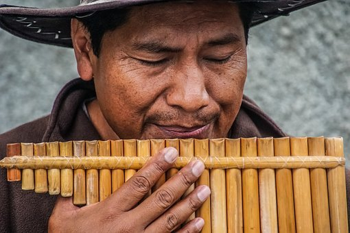 People, Man, Hand, Bamboo, Flute, Musical, Instrument