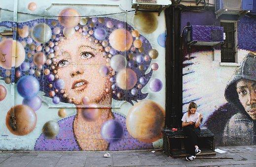 Aircon, Inside, Wall, Mural, Painting, Art, Graffiti