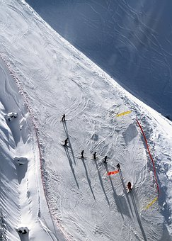 Ice, Skiing, Skier, Ski, Run, Sunny, Snow, Winter