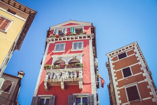 Building, Architecture, Blue, Sky, Apartment, Flower