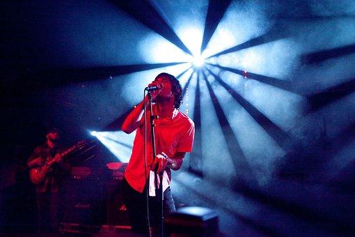 Spotlight, Music, Studio, Microphone, Guitar, Musical