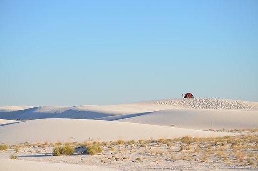 Mountain, Highland, Sand, Desert, Sunrise, Sunny