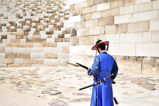 People, Man, Samurai, Sport, Martial, Arts, Wall