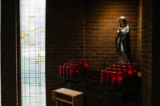 Church, Chapel, Wall, Mother, Mary, Statue, Worship