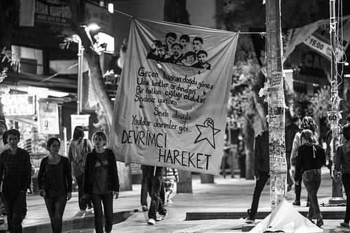 Street, Banner, Action, Resist, Resistance, Revolution
