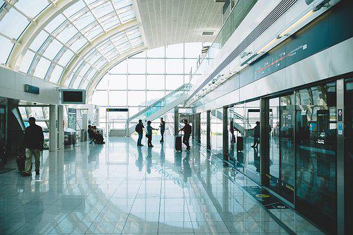 Inside, Building, Airport, Departure, Arrival