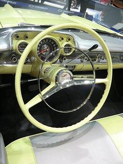 Oldtimer, Chevrolet, Cockpit, Us-cars, Belair