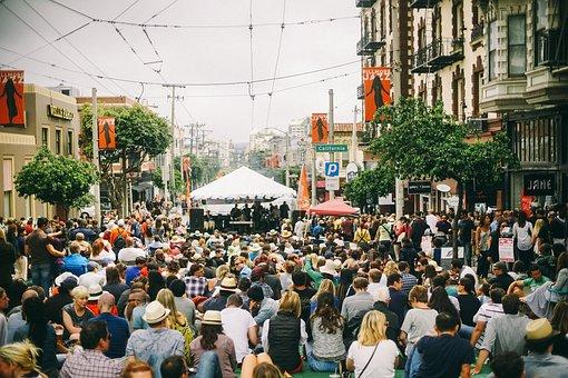 People, Crowd, Men, Girls, Concert, Singer, Musician