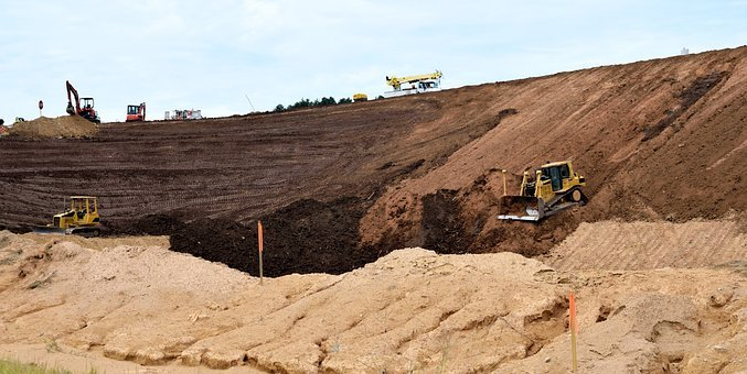 Construction Site, Industry, Backhoe, Heavy Equipment