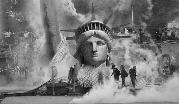 The Statue Of Liberty, Violence, Anarchy, Event